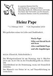 Traueranzeige, Todesanzeige von Heinz Pape aus Sendenhorst. - teaser4_wna_6329019