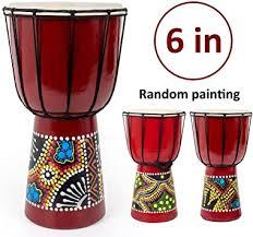 Kmise Djembe, African Hand Drum, <b>Mini</b> Djembe 6''<b>x11</b>.5 ...