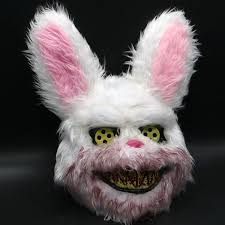 Evil Bloody Rabbit <b>Mask Halloween Horror Masks</b> Masquerade ...