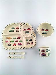 <b>Набор детской посуды</b> из бамбука, 5 предметов: сортер - 4 ...