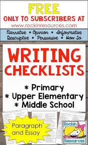 17 best images about writing workshop teaching this writing checklist resource is packed 20 pages of checklists ready to print and use it covers paragraph and essay writing in the following types