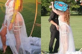 'Skanky' bride horrifies people by wearing a <b>see</b>-<b>through dress</b> so ...
