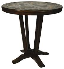 40 inch round pedestal dining table: pastel devon coast  inch high pub table traditional indoor pub and