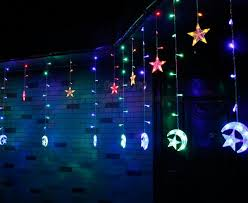 Copper Wire <b>Star Moon Led</b> String Light 2.5 M *12 Holiday Light ...