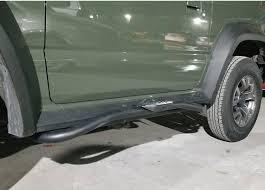 <b>Пороги боковые подножки</b> силовые для Suzuki Jimny NEW 2019 ...
