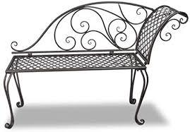 Tidyard <b>Garden Chaise Lounge 128</b> x 46 x 88 cm (L x D x H) Steel ...