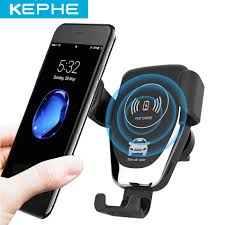 <b>Qi 10W Car Fast</b> Wireless Charger For iPhone 8 8 Plus XS 7.5W Car ...