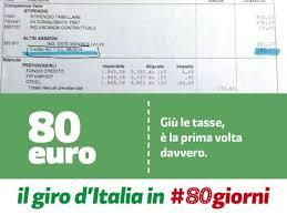 Risultati immagini per Renzi bonus 80 euro slides