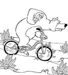 Медведь раскраска малышам