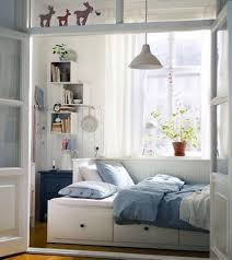 blue vintage bedroom