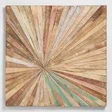 mirror wall decor circle panel: antiqued sunburst wood panel wall decor