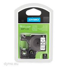 Dymo S0718050 D1 16958 Flexible <b>Nylon</b> Tape 19mm x 3,5m <b>Black</b> ...