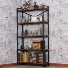 LOFT loft wood, <b>wrought iron shelf bookcase shelf creative</b> floor ...