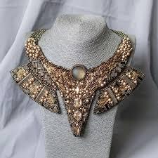 <b>Колье золотистое</b> ЕГИПЕТСКИЙ стиль с кристаллами <b>сваровски</b> ...