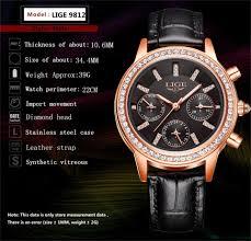 <b>Relogio feminino</b> Womens Watches LIGE <b>Luxury Brand</b> Girl Quartz ...