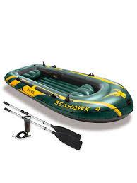 <b>Лодка надувная Intex</b> Seahawk 4 SET, 4-местная + ручной насос ...