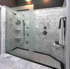 layouts walk shower ideas: bathroom design with walk in shower ideas and nice tiling combination tiled showers