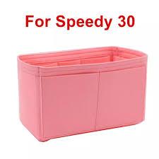 <b>SPEEDY 25 30</b> 35 Felt Cloth Insert Bag Organizer Makeup Handbag ...
