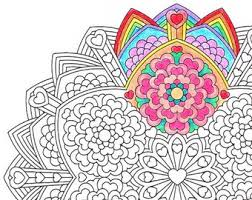 Small Picture Mandala Coloring Page Flower Epiphany printable art to