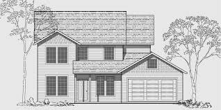 Traditional House Plans  Two Story House Plans  Bedroom HouseHouse front color elevation view for WD Traditional house plans  two story house plans
