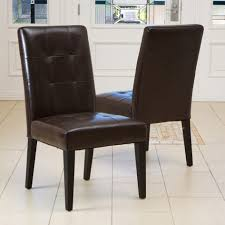 Brown Leather Dining Room Chairs Brown Leather Dining Chairs With Wooden Legs 7pc Modern Dining