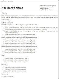 sample resume  sample resume templates for free online free online    sample free resume template for job   employment history
