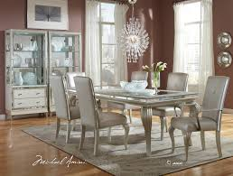 dining table parson chairs interior: appealing parson dining chairs by aico furniture with wood dining table and feizy rugs plus unique