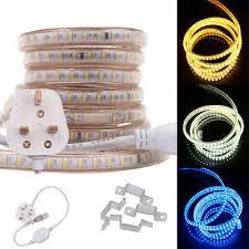 AC <b>220V</b> 240V <b>LED</b> Strip Waterproof <b>5050</b> RGB 60-120 <b>LED</b>/m ...