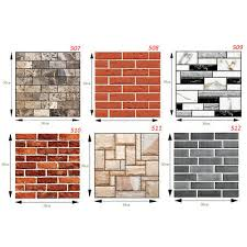 <b>10 PCS 3D</b> Tile Brick Wall Sticker PE <b>Foam</b> DIY Self-adhesive ...