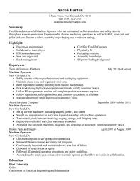 best machine operator resume example livecareer create my resume