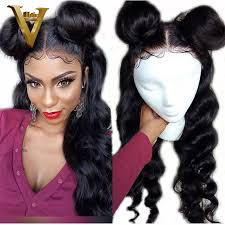 Ponytail <b>Silk Base Full</b> Lace Human Hair Wigs With Baby Hair Pre ...