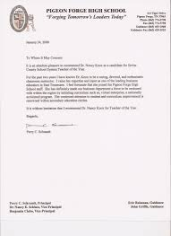 letter of recommendation for teacher of the year letter of recommendation for teacher of the year