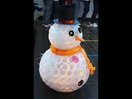 МК - a snowman out of <b>plastic cups</b> - YouTube