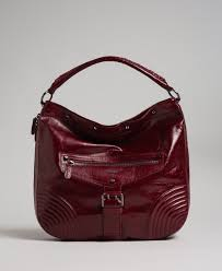 Crackled effect <b>leather hobo bag</b> with studs <b>Woman</b>, Red | TWINSET ...