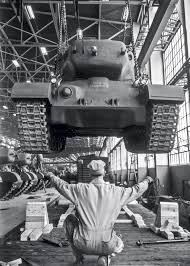 「In February of 1942, the last Ford automobile rolled off the assembly line for the duration of the war,」の画像検索結果