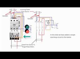 Single Phase Starter Connections. - YouTube