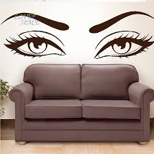 sun wall decal trendy designs: buy sexy eyes wall stickers wow modern beauty salon valentine wall