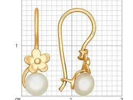 золотые <b>серьги с жемчугом</b> - Купить недорого ювелирные ...