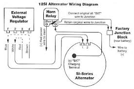 alternator wiring diagrams and information brianesser com typical externally regulated to internally regulated alternator conversion