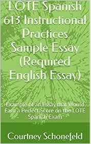 amazoncom lote spanishsample written expression essay