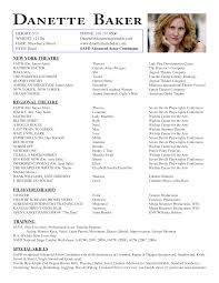 sample resume for a child actor resume writing resume examples sample resume for a child actor sample resume child children in film resume danette baker acting