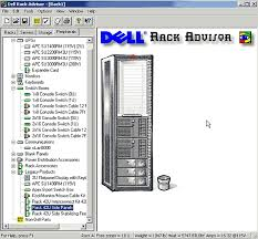 get it done  use visio to diagram your rack server equipment    dell rack advisor