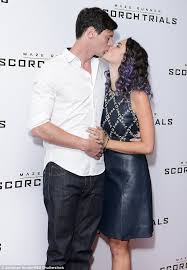 Kaya Scodelario kisses fiance Benjamin Walker at Maze Runner ... via Relatably.com