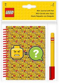 <b>Блокнот LEGO</b> Iconic, с ручкой, <b>100 листов</b> в линейку