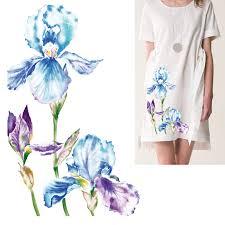 6x10.2in <b>Beautiful Flower</b> Heat Transfer Patch Pattern Girls Favorite ...
