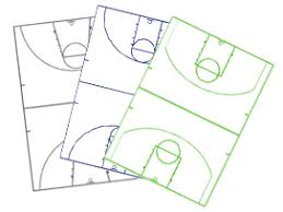 basketball court diagrams and templates   free printablebasketball diagrams   image layout   highschool  college  international  nba