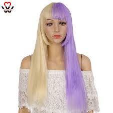 <b>MANWEI Lolita</b> 56CM Purple potato color Long straight hair Curly ...