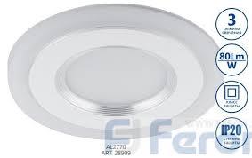28909 <b>Светодиодный светильник Feron</b> AL2770 <b>встраиваемый</b> ...