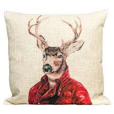 <b>Декоративная подушка</b> версия <b>1</b> Мистер Благородный Олень ...