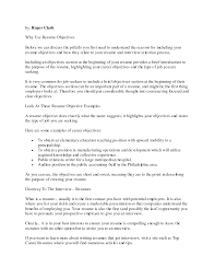 career objective ideas for a resume resume career objectives